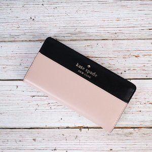 NWT Kate Spade Staci Colorblock Slim Bifold Wallet